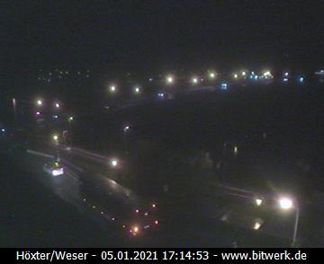 Bitwerk Webcam, Blick auf den Weserbogen in Höxter